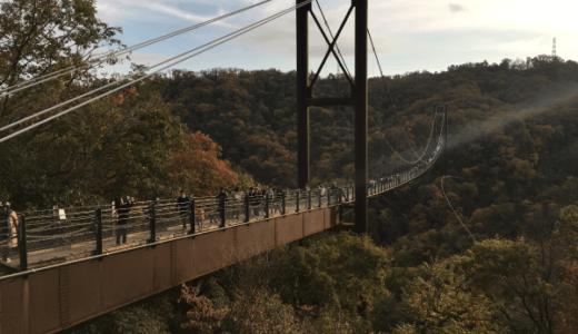 ほしだ園地の紅葉の感想と吊り橋!|駐車場に注意!