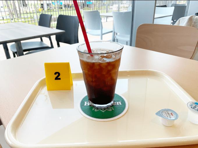 まちライブラリーカフェのアイスコーヒー