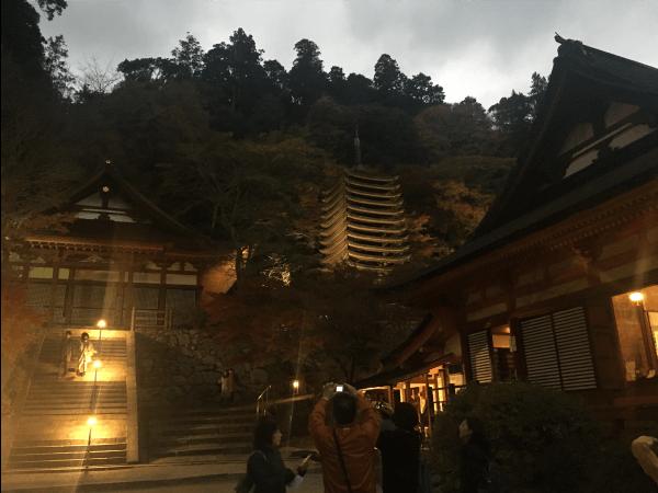 談山神社のライトアップ
