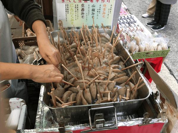 談山神社の周辺売店のこんにゃく