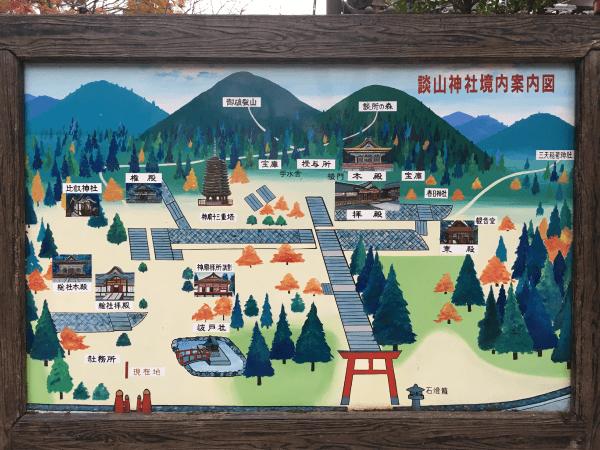 談山神社のマップ